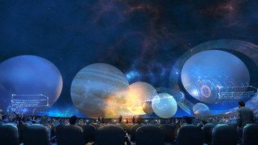 An artist's impression of the new planetarium at Parramatta