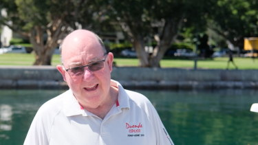 Rest and recreation: Tony Cable is spending this year on the radio relay boat.
