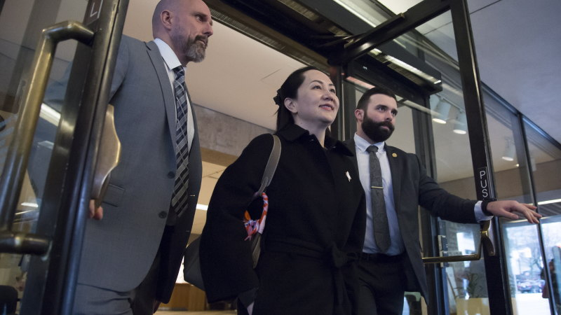 Huawei executive gets first chance at release in extradition fight