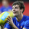 Make me a Bomber, says Dunkley, as Bulldogs secure back-up ruckman