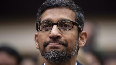 Under pressure. Google chief executive Sundar Pichai.