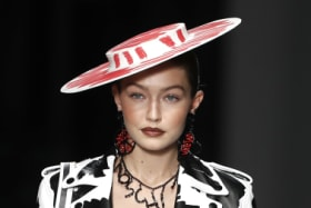 Black mark: Moschino accused of ripping off designer's 'scribble' look