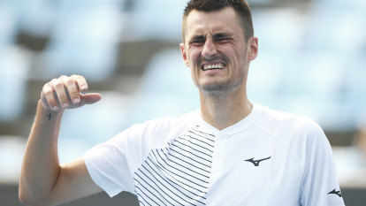 'Today was lucky': Tomic one win away from Australian Open main draw