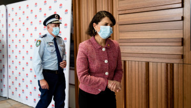 Premier Gladys Berejiklian said the state should  prepare for an enhanced police presence.