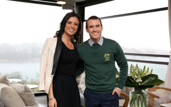 Pamela Jabbour, chief executive and founder of Total Image Group, at the launch of the Australian Winter Olympic uniforms.
