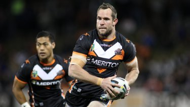 Pat Richards during his career at the Wests Tigers.