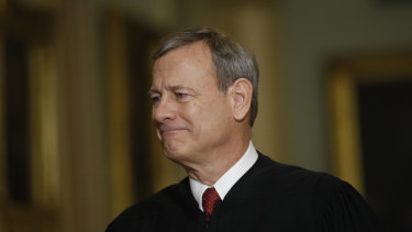 Chief Justice of the United States, John Roberts walks to the Senate chamber.