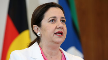 """""""We're still in the midst of a pandemic"""": Queensland Premier Annastacia Palaszczuk."""