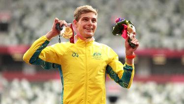That winning feeling: Australia's James Turner.