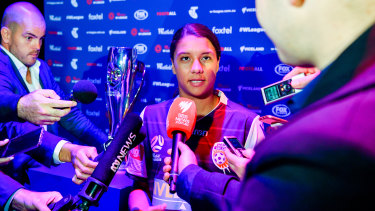 Star power: Samantha Kerr is the face of the W-League this season, but what does the competition's future look like?