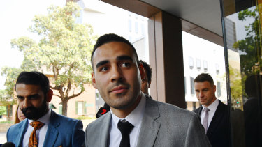 Panthers playmaker Tyrone May declined to comment after he was sentenced at Parramatta Local Court.