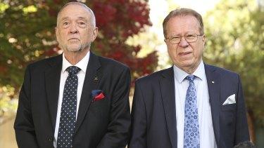 Professor John McCallum, CEO of National Seniors Australia, and Ian Yates, Chief Executive of Council on the Ageing Australia.
