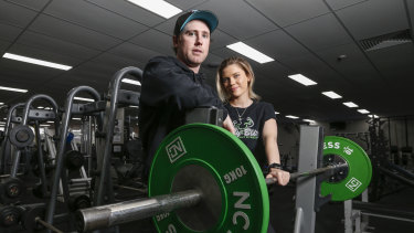 Body Blitz owners Luke Hogbin and Emily Crawford in their Gisborne gym.