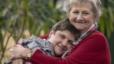 """Hannah Ostle, pictured with mother Lin Vidler, is """"well and truly"""" part of the foundation's family, CEO Ian Wishart said."""