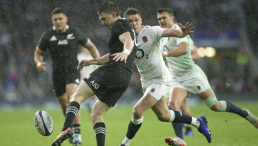 Closing the gap: England lost to New Zealand at Twickenham by just a point last November.