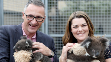 Senator Di Natale and Greens Senator Sarah Hanson-Young on the campaign trail in the 2019 federal election.