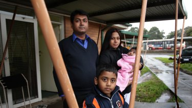 Somenath Gope, his wife Sutapa Ghosh and their children Aditya and Sudha live in Clayton and moved to Australia from India in 2011.