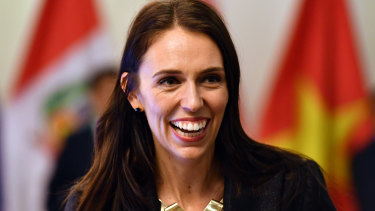 """""""Promoting New Zealand on the world stage"""": New Zealand Prime Minister Jacinda Ardern."""