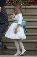 Princess Charlotte arrives for the wedding.