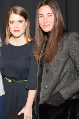 Katherine Keating, right, at the NONOO Fall 2014 Collection in New York with Princess Eugenie of York., daughter of Prince Andrew.