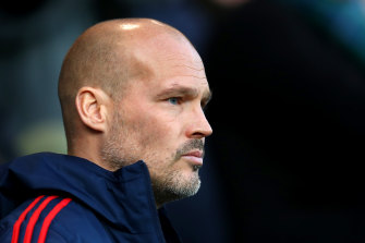 Arsenal's interim manager Freddie Ljungberg at Carrow Road in Norwich on Sunday.