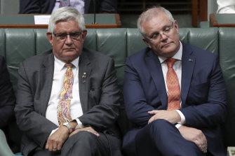 Minister for Indigenous Australians Ken Wyatt and Prime Minister Scott Morrison on Wednesday.