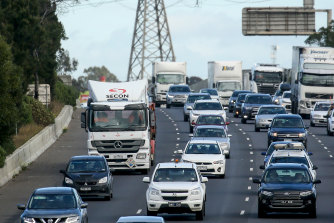 The West Gate Freeway is a focus of the summer construction blitz.