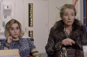 Emilia Clarke (left) and Emma Thompson, who co-wrote the script and co-produced Last Christmas, as Kate's mother, Petra.
