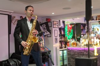 Saxophonist Ed Barker is calling on his star power to win the seat of Derby South for the Conservatives.
