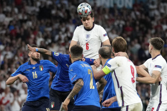 The father of England defender Harry Maguire was caught up in the Wembley Stadium stampede.