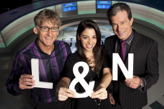 Letters and Numbers: gone but not forgotten. David Astle with number expert Lily Cerna and host Richard Morecroft.