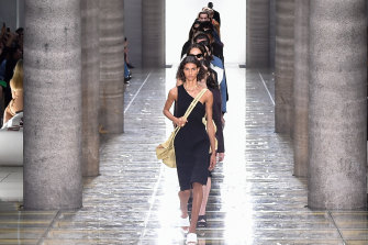 Leaders of the pack ... models at Bottega Veneta.