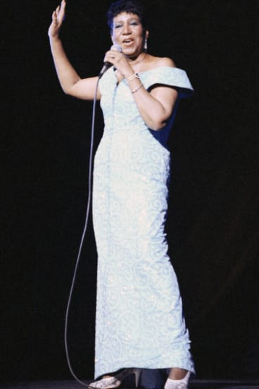Aretha Franklin performing in New York in 1989.