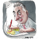 Fairfield City mayor Frank Carbone wants to reduce the number of council wards. Illustration: John Shakespeare