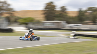 Cadet kart racers Lana Aylen (10) from Amaroo and Bailey Sweet (9) from Evatt are among those who will benefit from an expanded Majura track.