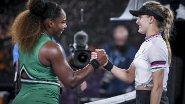 Serena Williams made short work of her opponent Eugenie Bouchard.