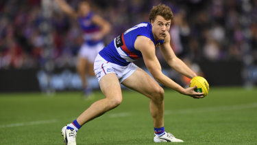 Jack flash: Bulldogs midfielder Jack Macrae racked up 45 possessions in a best-on-ground performance against the Lions.