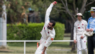 Eastlake's bowler Nikhil Mathai took four wickets.