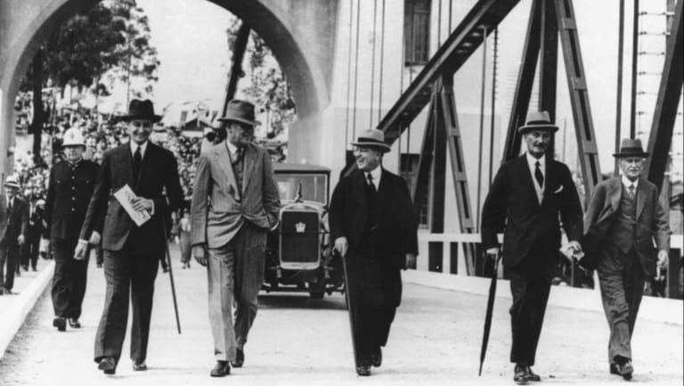 The opening of Indooroopilly's Walter Taylor toll bridge in 1936.