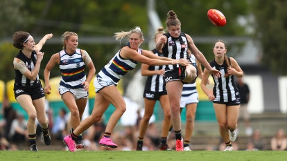 Davey inspires wayward Magpies to win over Cats; Demons dismiss toothless Tigers