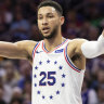 Ben Simmons injures shoulder against Utah