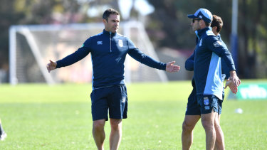 Narrowing the gap: Brad Fittler is desperate for the Blues to improve in Perth.