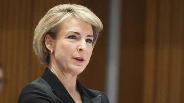 Attorney-General and Minister for Industrial Relations Michaelia Cash during a Senate estimates hearing.
