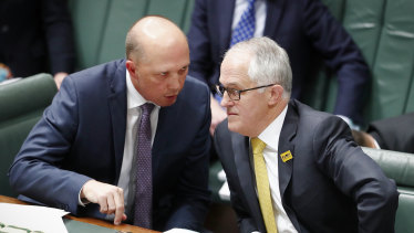 Home Affairs Minister Peter Dutton played down reports of a leadership tilt on Saturday.
