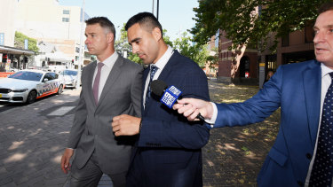 Tyrone May leaves court in January after narrowly avoiding a custodial sentence.
