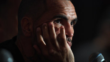 Yesterday's Man: Anthony Mundine comes to terms with defeat against Jeff Horn.
