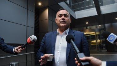 "NSW Nationals leader John Barilaro has been overheard calling koalas ""tree rats""."