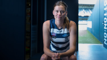 Time are changing: Geelong ruck Erin Hoare.