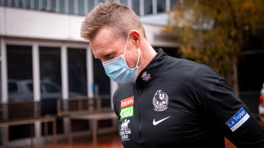 Nathan Buckley on Wednesday after his announcement.