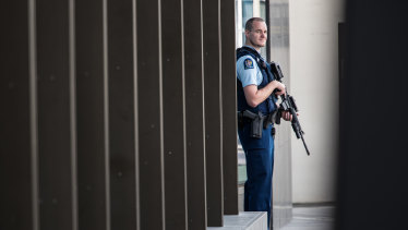 New Zealand police in the city of Christchurch.